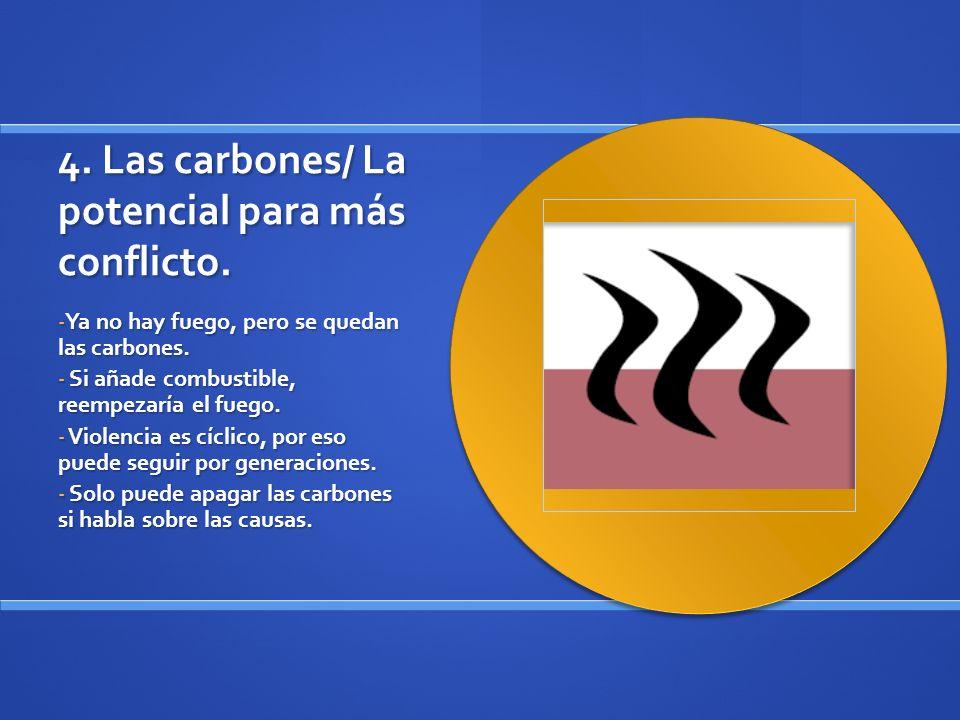 4. Las carbones/ La potencial para más conflicto.