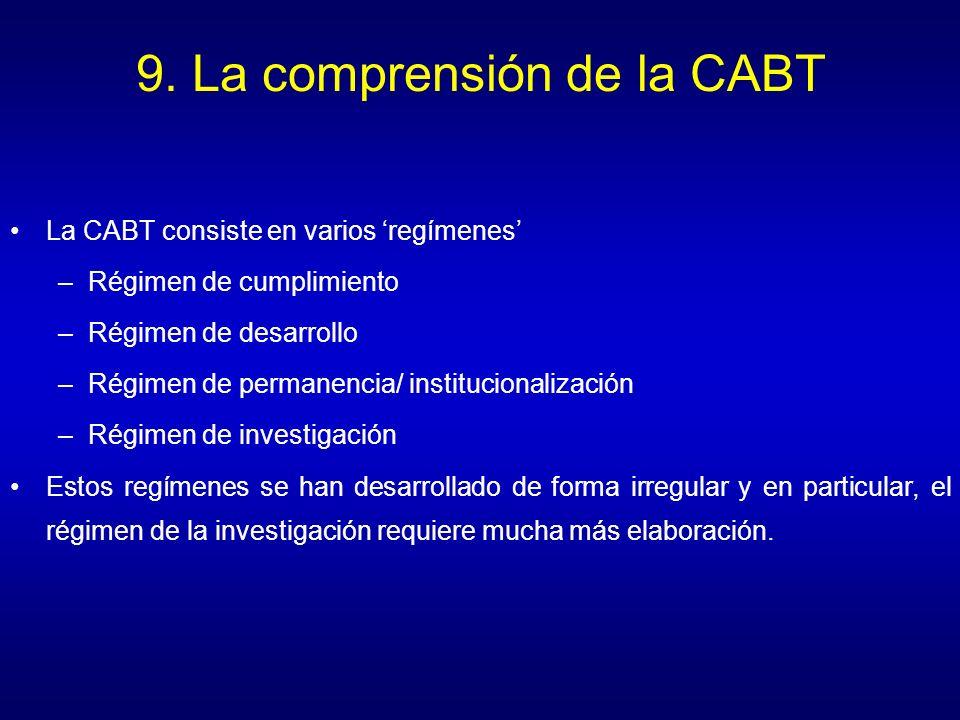 9. La comprensión de la CABT