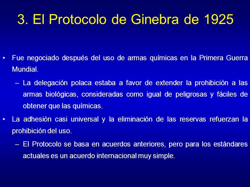 3. El Protocolo de Ginebra de 1925