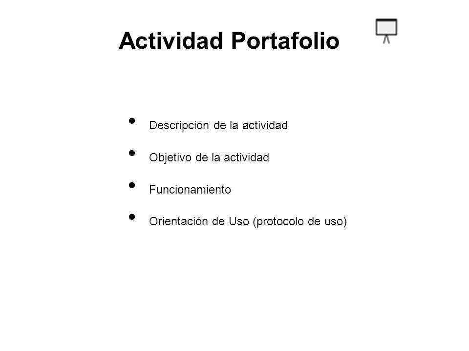Actividad Portafolio Descripción de la actividad