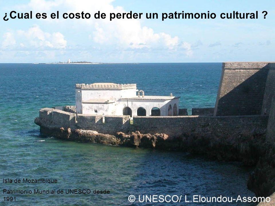 ¿Cual es el costo de perder un patrimonio cultural