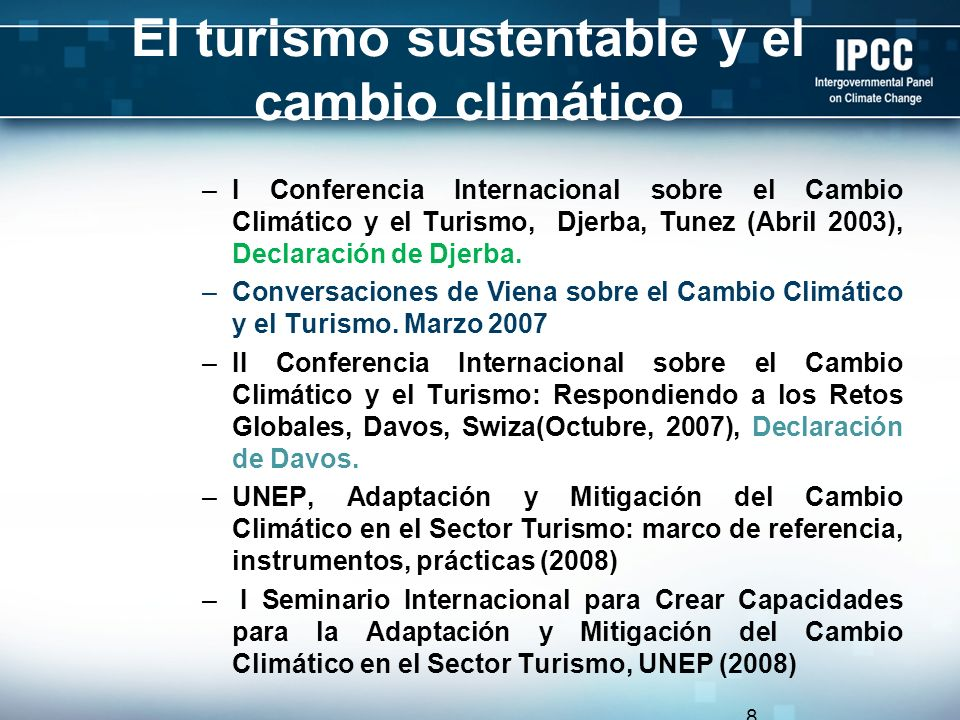 El turismo sustentable y el cambio climático