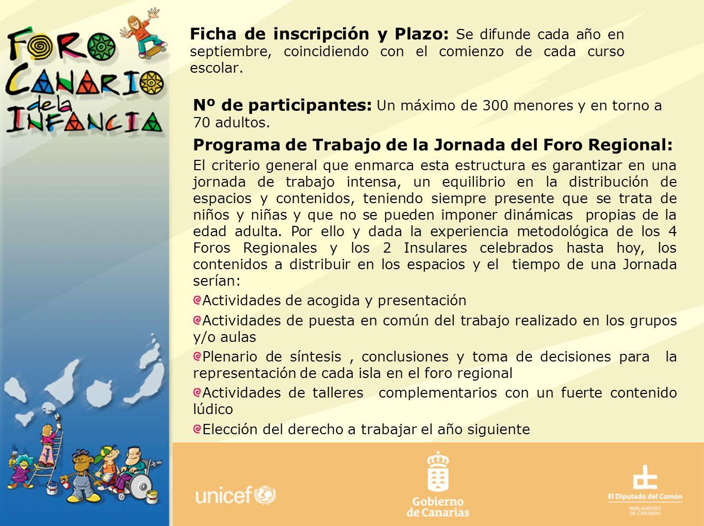 Nº de participantes: Un máximo de 300 menores y en torno a 70 adultos.