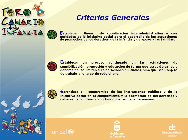Criterios Generales