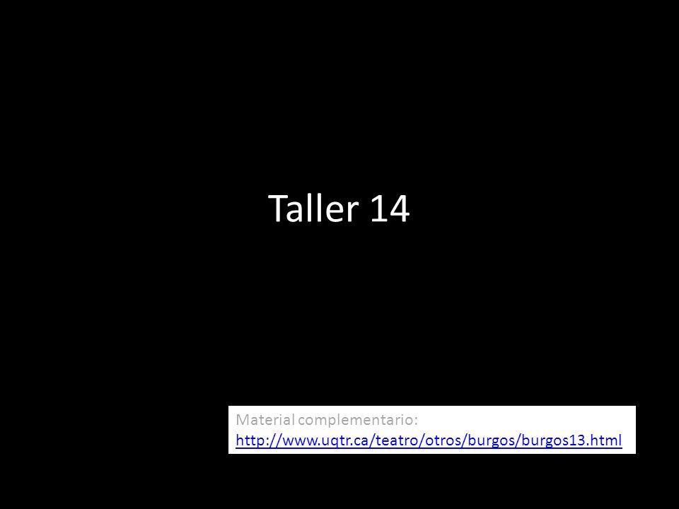 Taller 14 Material complementario: