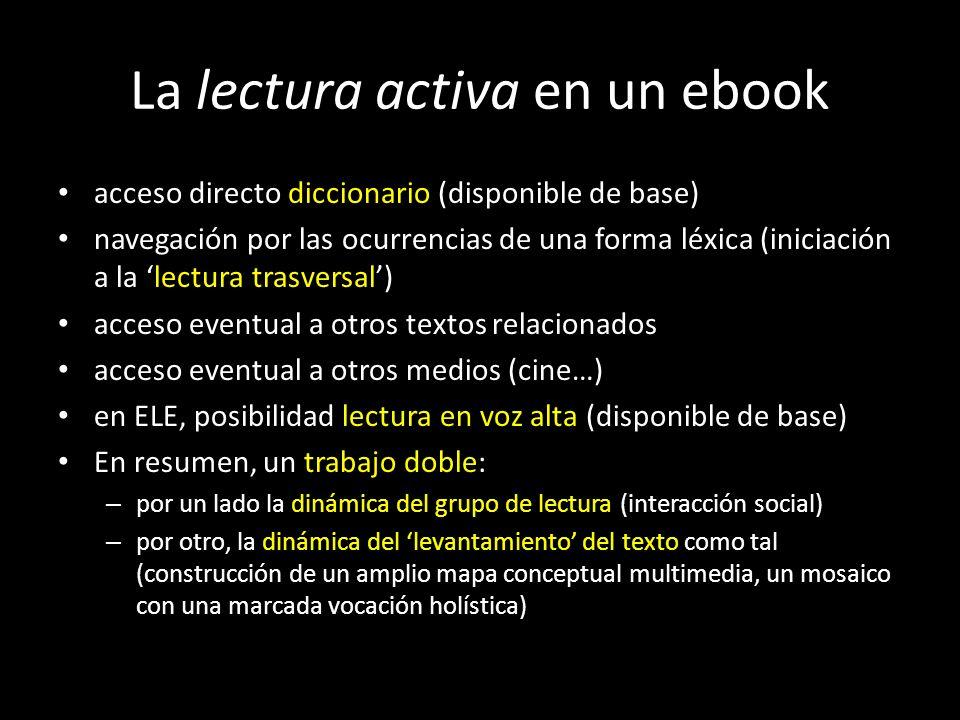 La lectura activa en un ebook