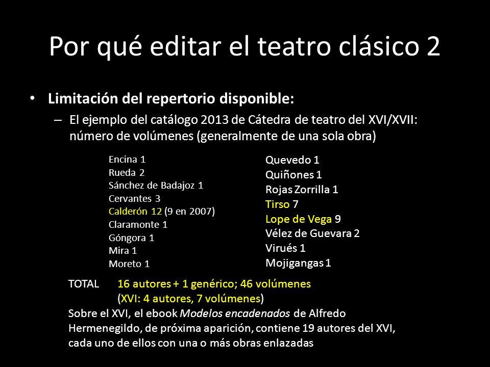 Por qué editar el teatro clásico 2