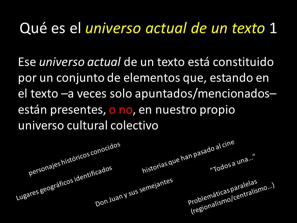 Qué es el universo actual de un texto 1