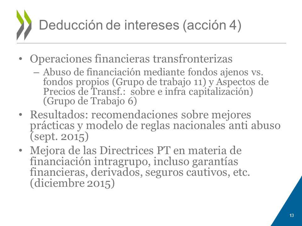 Deducción de intereses (acción 4)