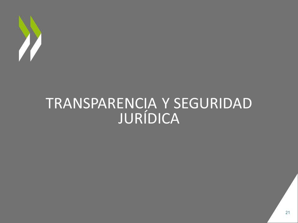 Transparencia y seguridad jurídica