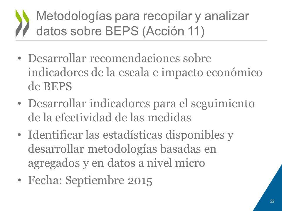 Metodologías para recopilar y analizar datos sobre BEPS (Acción 11)