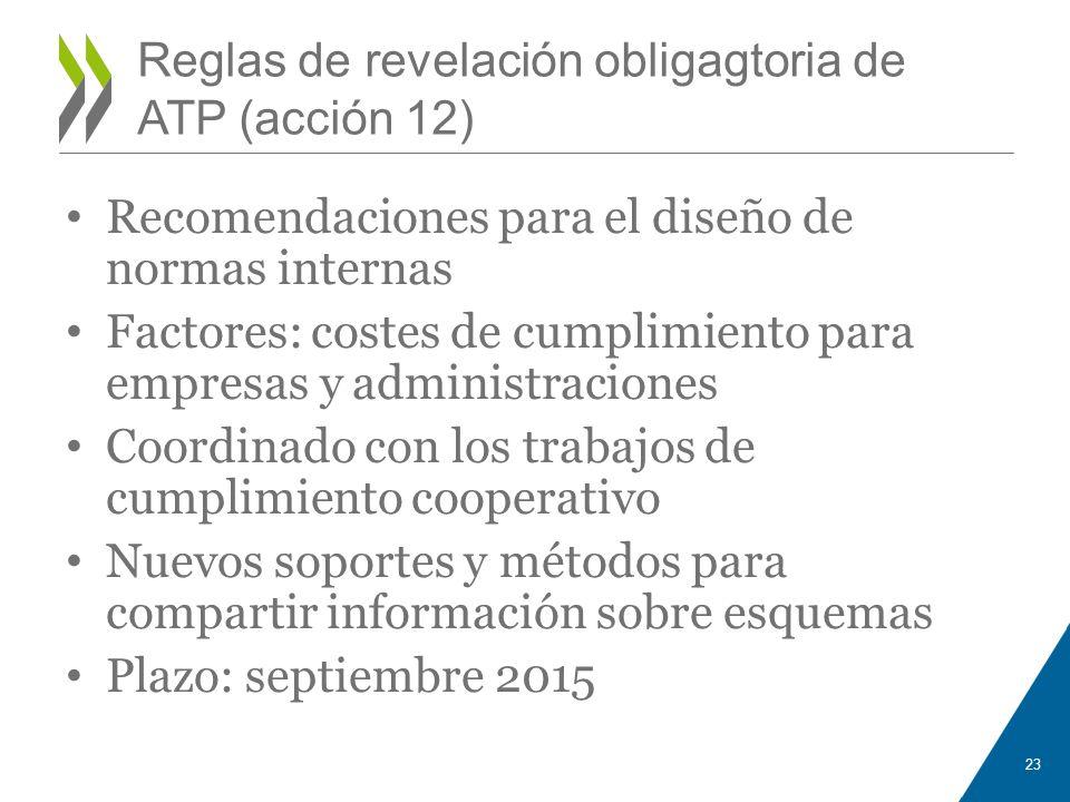 Reglas de revelación obligagtoria de ATP (acción 12)