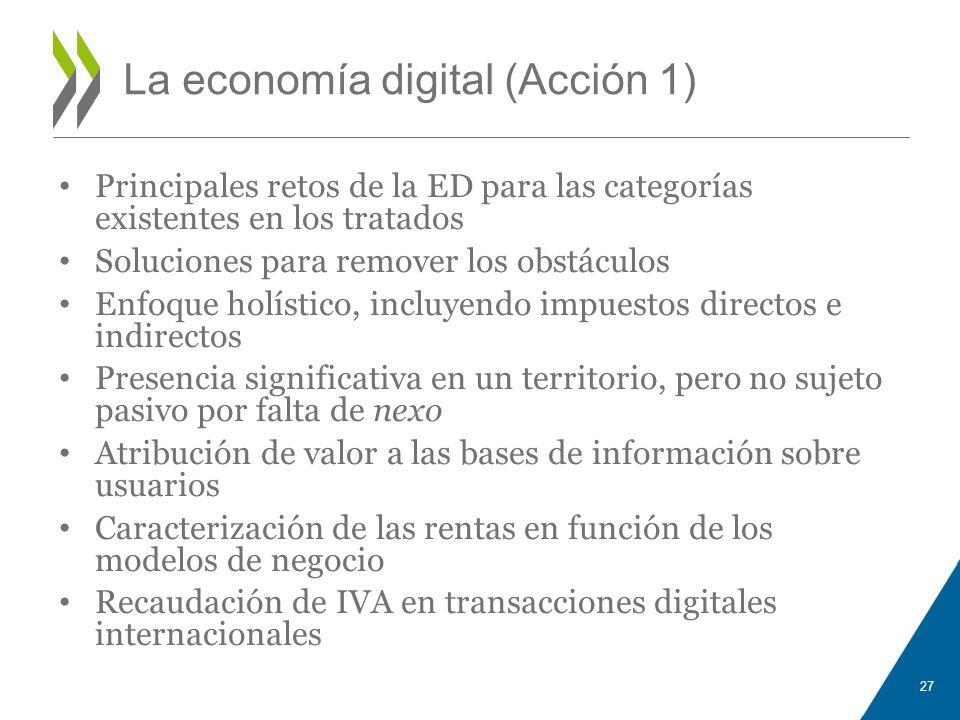 La economía digital (Acción 1)