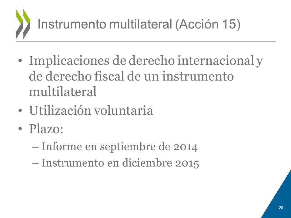 Instrumento multilateral (Acción 15)