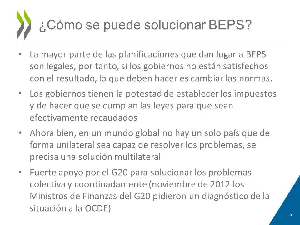 ¿Cómo se puede solucionar BEPS