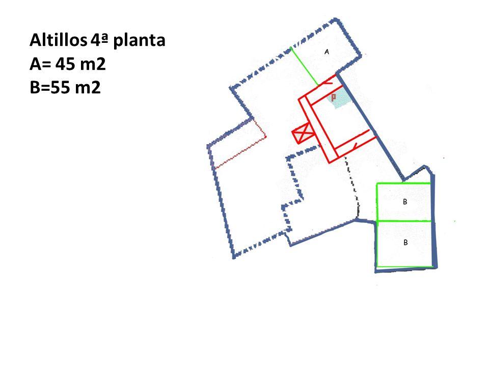 Altillos 4ª planta A= 45 m2 B=55 m2