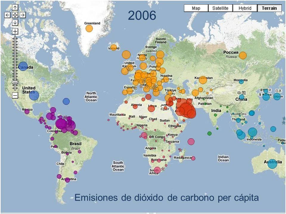 2006 Emisiones de dióxido de carbono per cápita