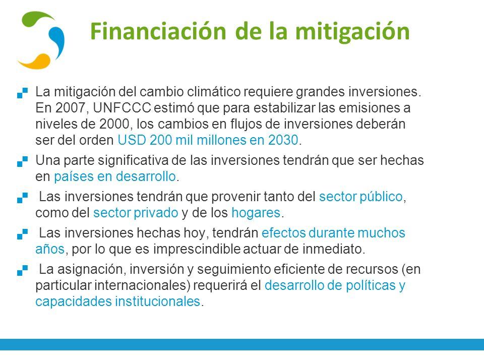 Financiación de la mitigación