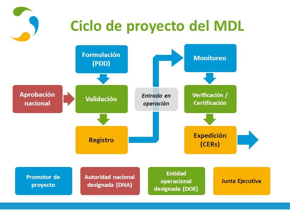 Ciclo de proyecto del MDL
