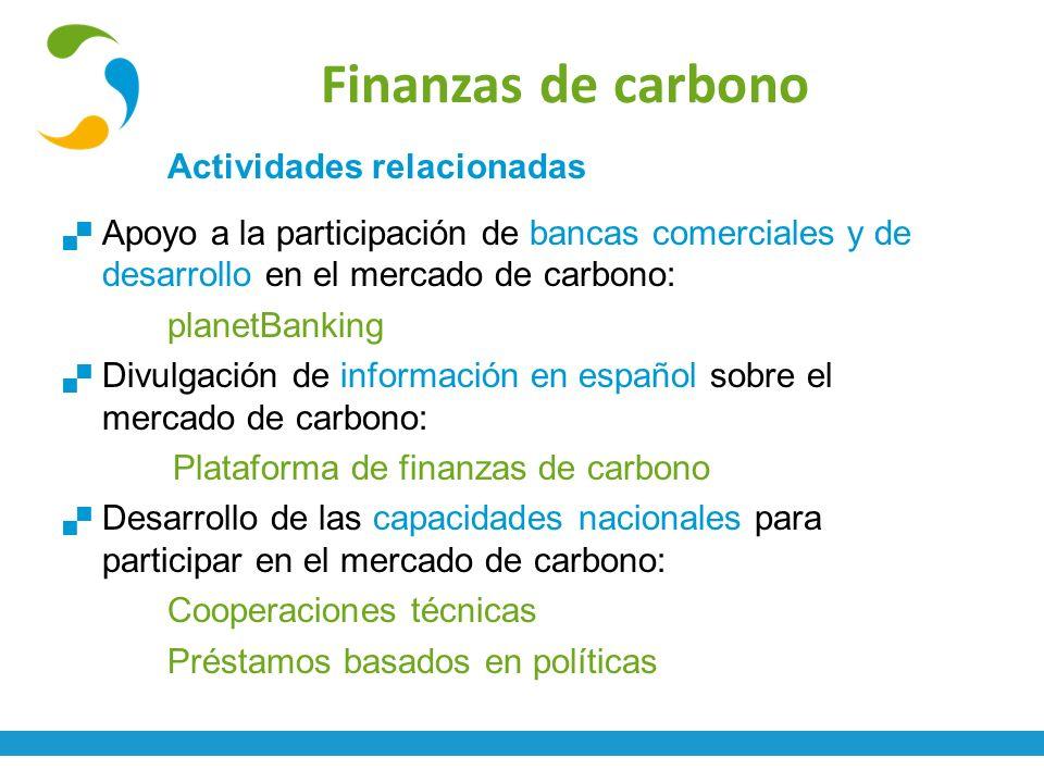 Finanzas de carbono Actividades relacionadas