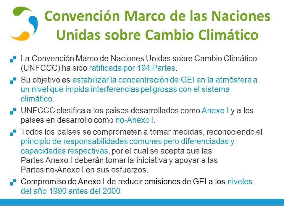 Convención Marco de las Naciones Unidas sobre Cambio Climático