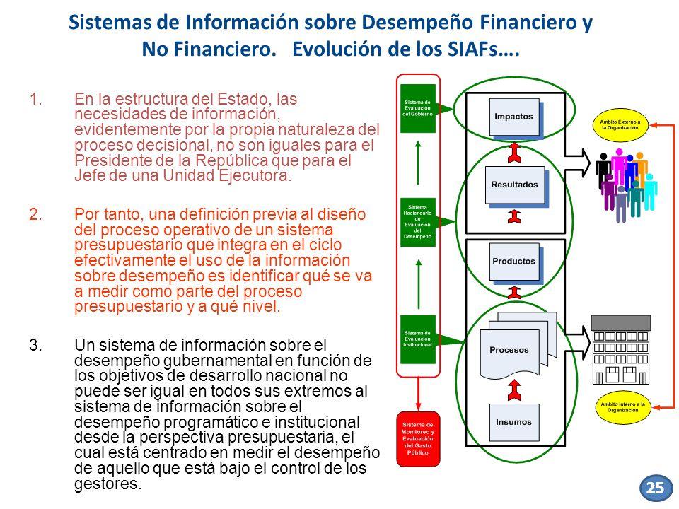Sistemas de Información sobre Desempeño Financiero y No Financiero