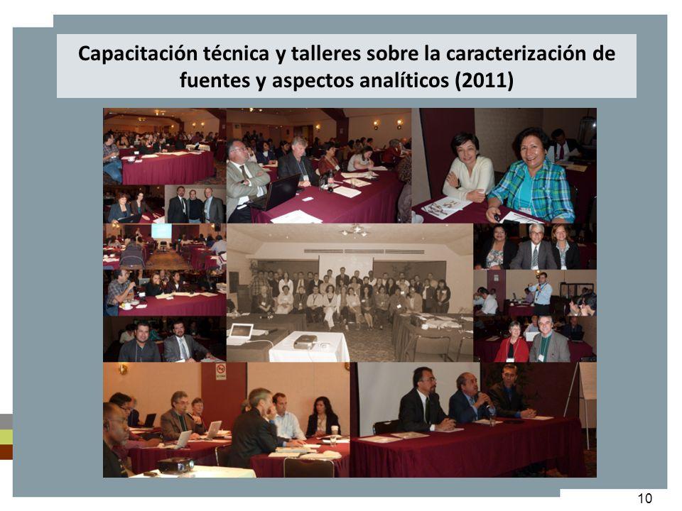 Capacitación técnica y talleres sobre la caracterización de fuentes y aspectos analíticos (2011)