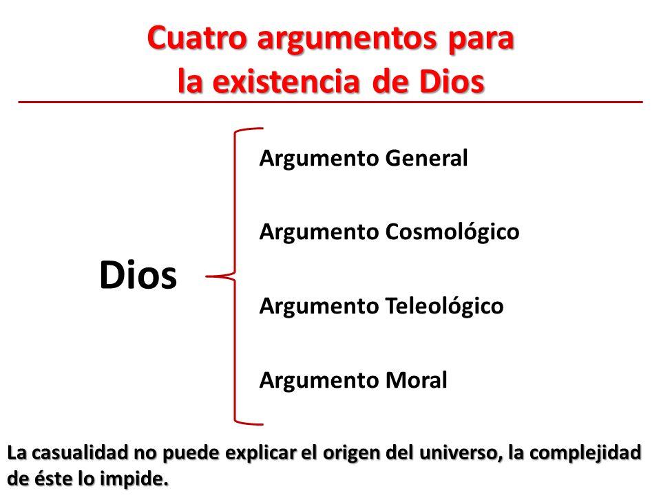 Cuatro argumentos para la existencia de Dios