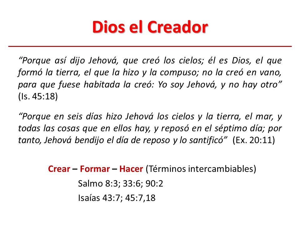 Dios el Creador