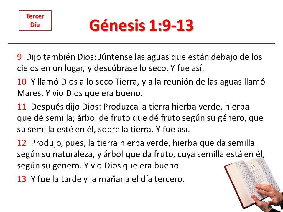 Génesis 1:9-13 Tercer. Día.