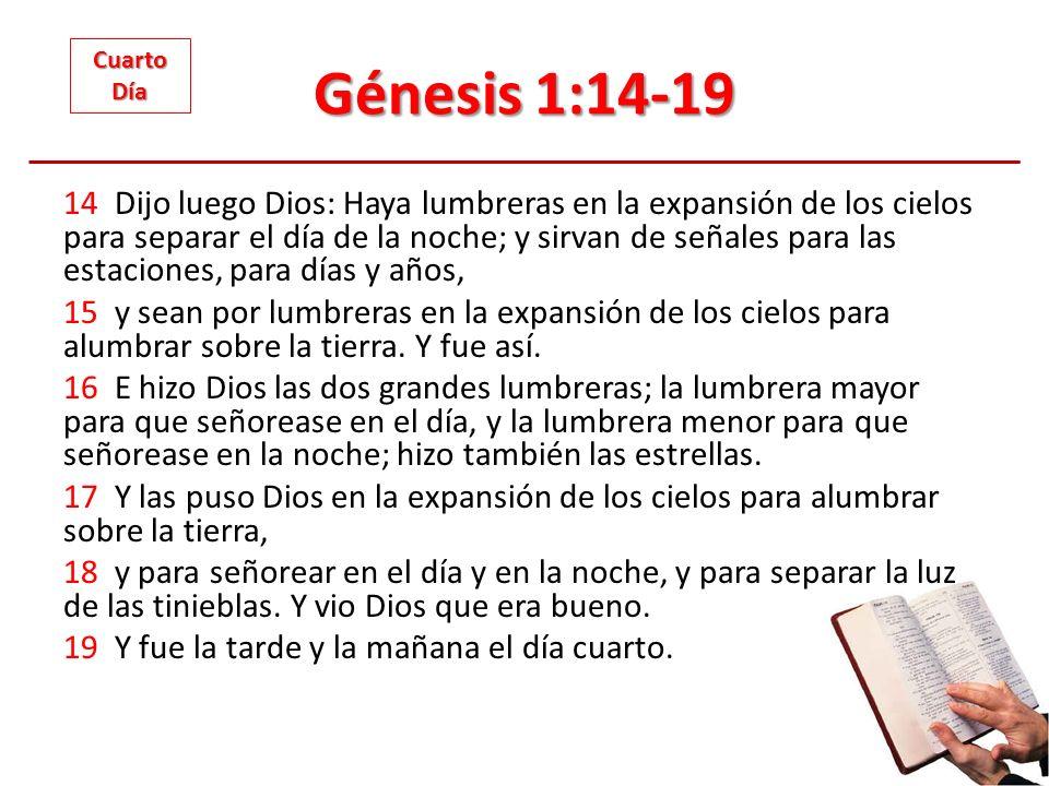 Génesis 1:14-19 Cuarto. Día.
