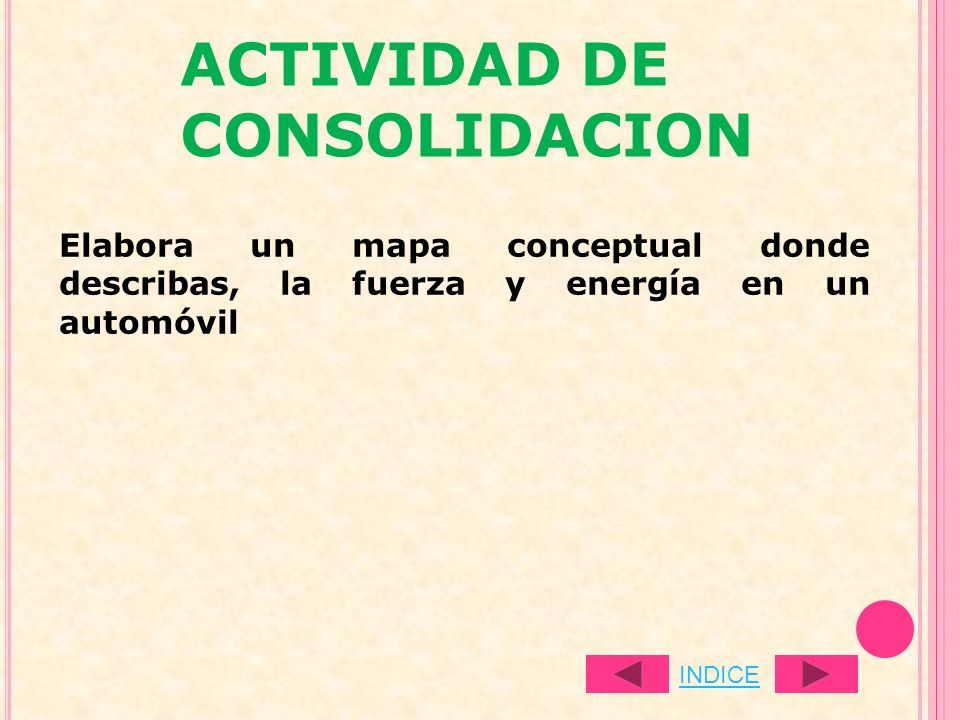 ACTIVIDAD DE CONSOLIDACION