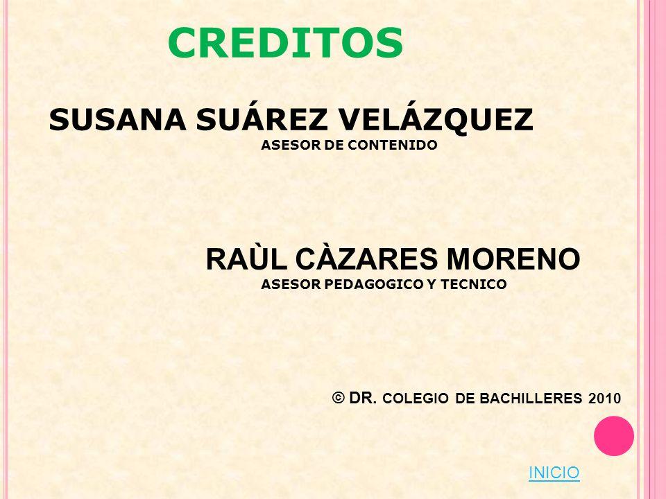 CREDITOS RAÙL CÀZARES MORENO SUSANA SUÁREZ VELÁZQUEZ