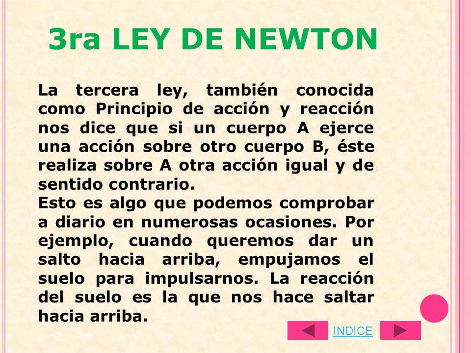 3ra LEY DE NEWTON