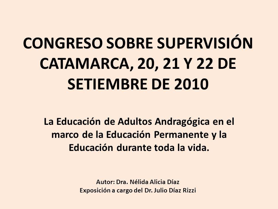 CONGRESO SOBRE SUPERVISIÓN CATAMARCA, 20, 21 Y 22 DE SETIEMBRE DE 2010