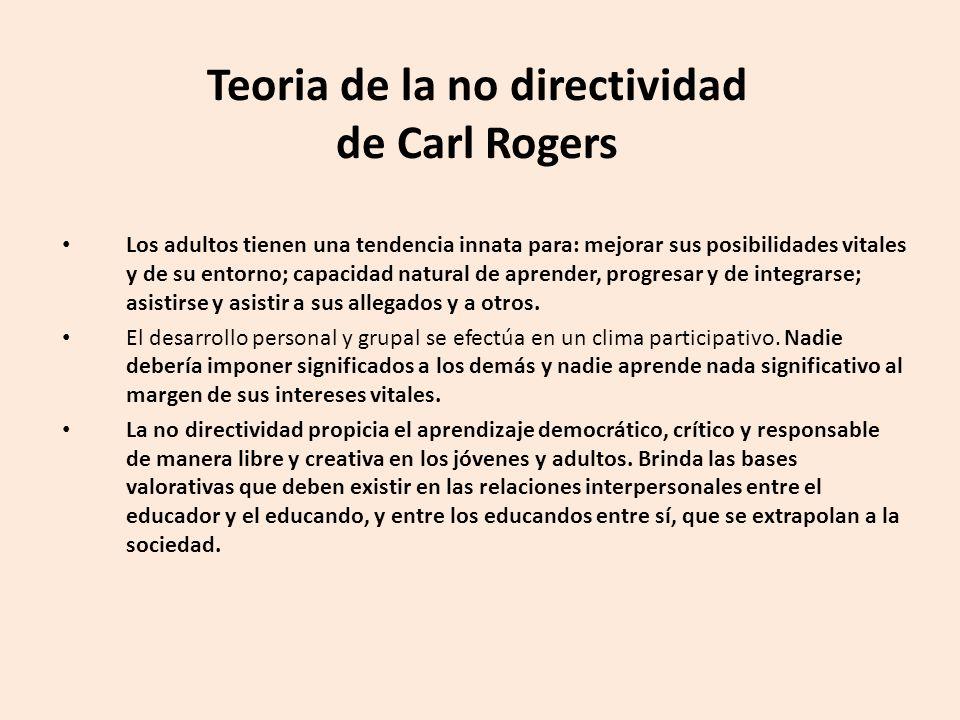 Teoria de la no directividad de Carl Rogers