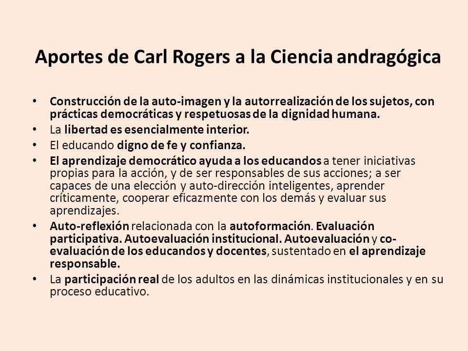 Aportes de Carl Rogers a la Ciencia andragógica