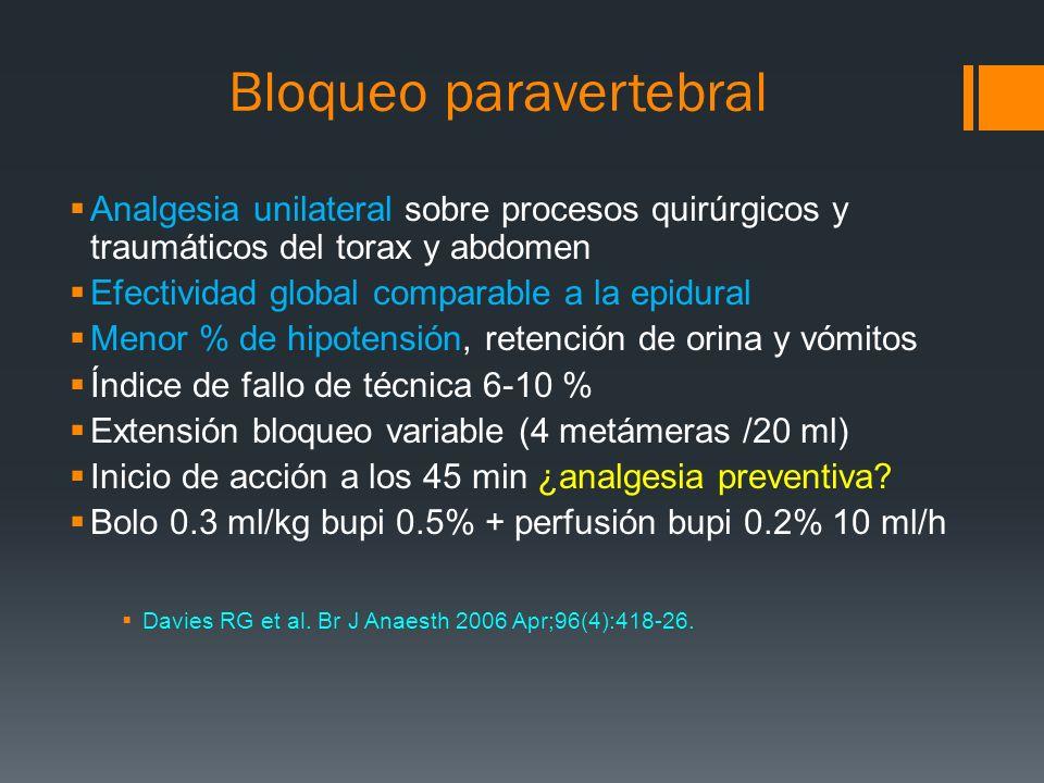 Bloqueo paravertebral