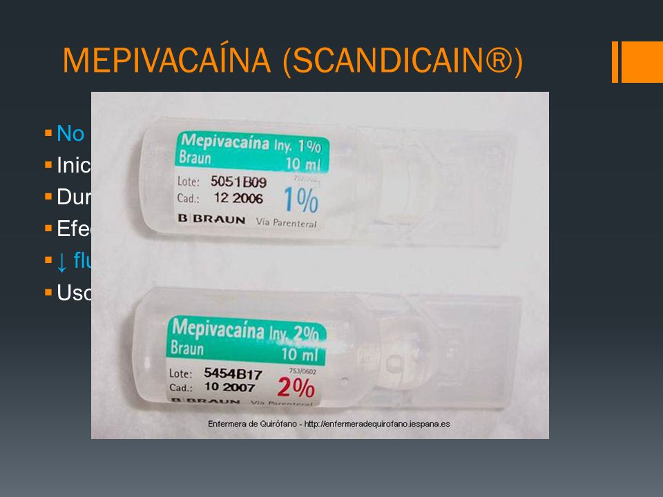 MEPIVACAÍNA (SCANDICAIN®)