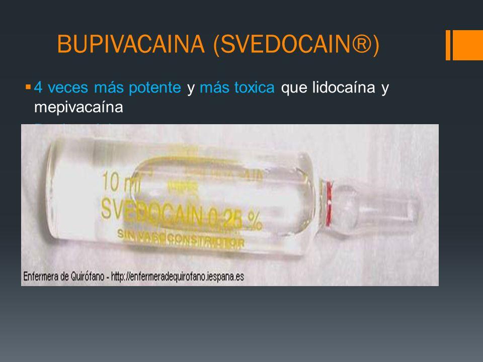 BUPIVACAINA (SVEDOCAIN®)