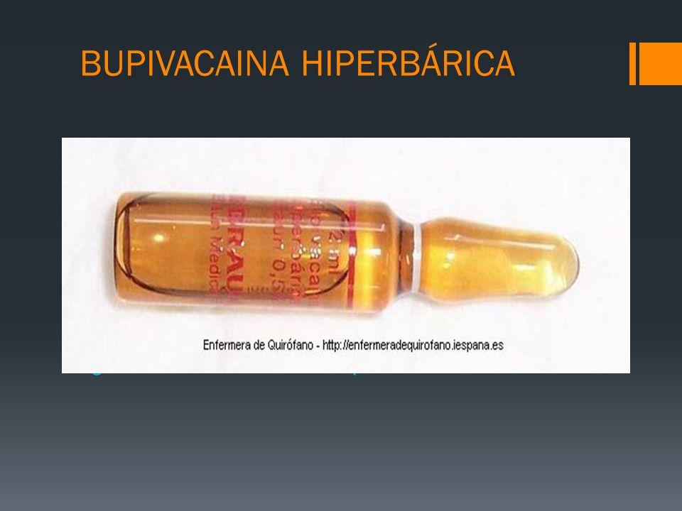 BUPIVACAINA HIPERBÁRICA
