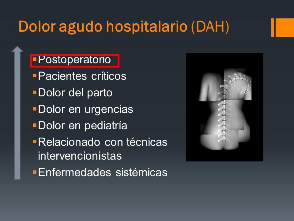 Dolor agudo hospitalario (DAH)