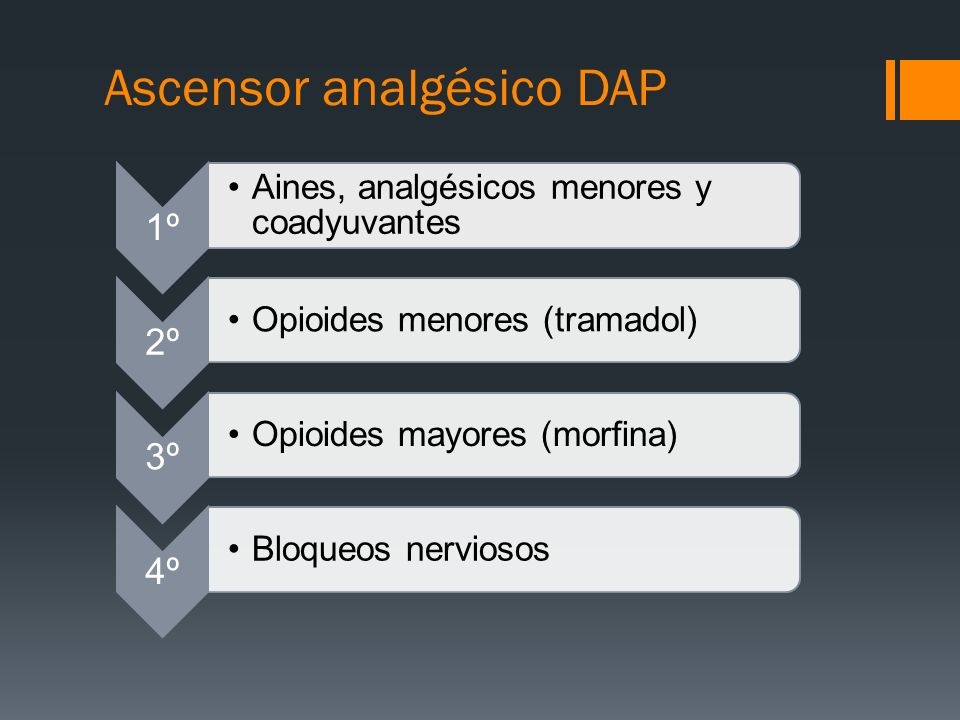 Ascensor analgésico DAP