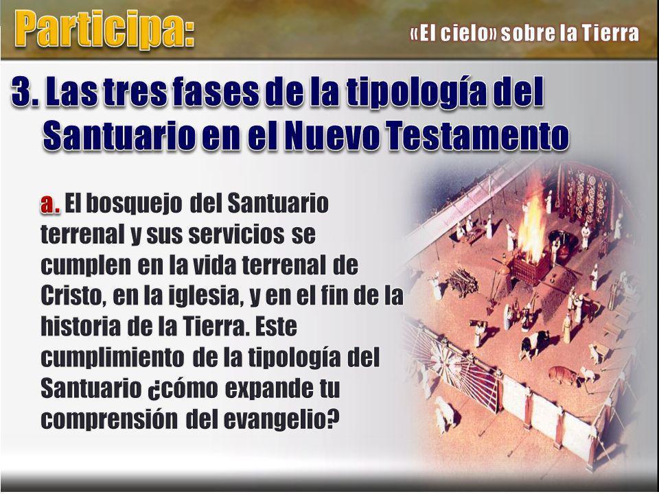 Participa: «El cielo» sobre la Tierra. 3. Las tres fases de la tipología del Santuario en el Nuevo Testamento.