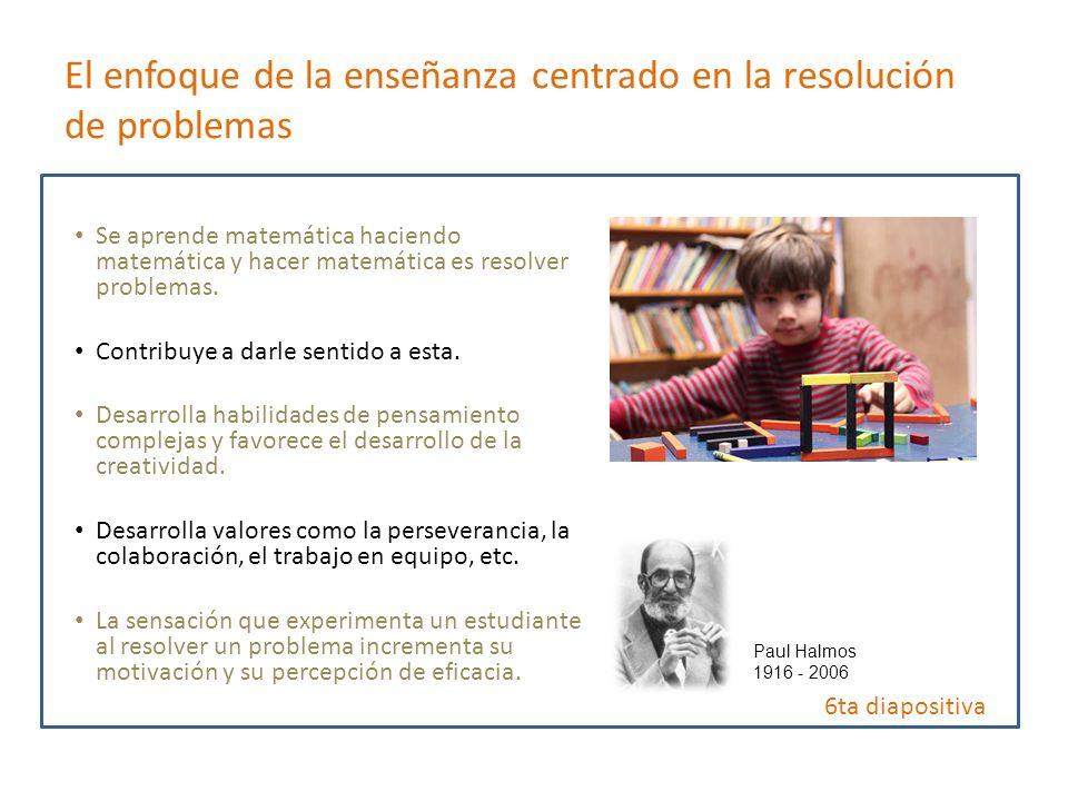 El enfoque de la enseñanza centrado en la resolución de problemas