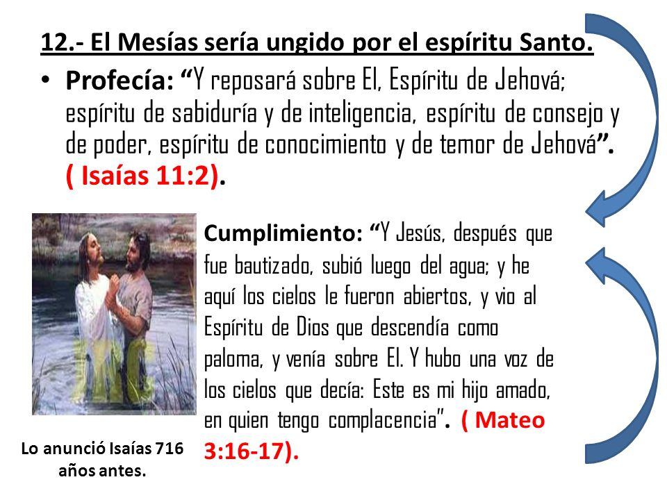 Lo anunció Isaías 716 años antes.