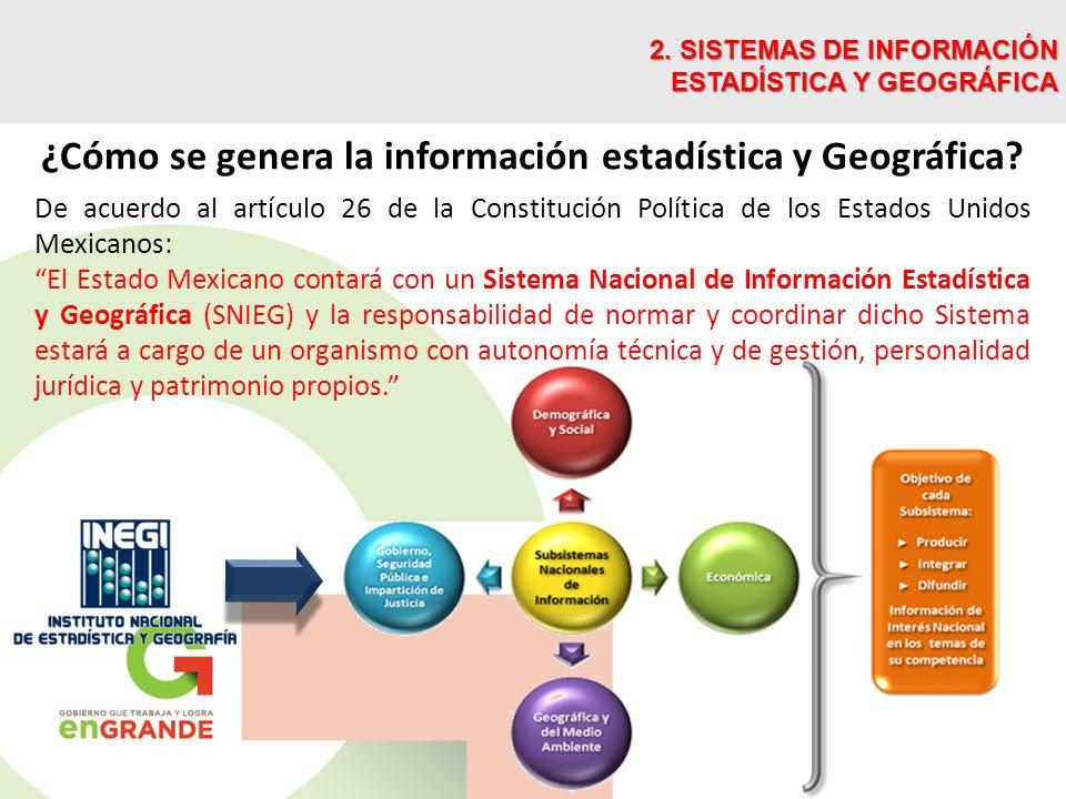 ¿Cómo se genera la información estadística y Geográfica