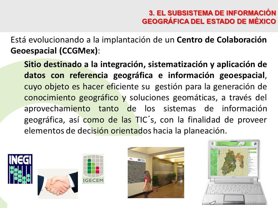 3. EL SUBSISTEMA DE INFORMACIÓN GEOGRÁFICA DEL ESTADO DE MÉXICO
