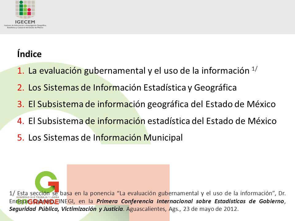 La evaluación gubernamental y el uso de la información 1/