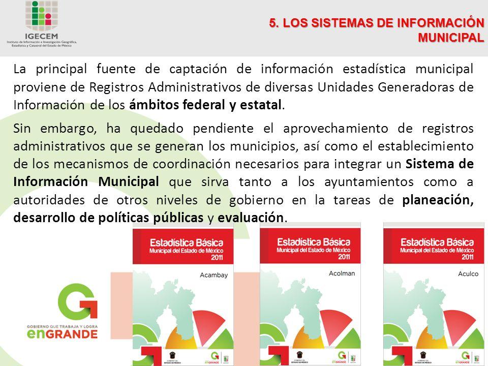 5. LOS SISTEMAS DE INFORMACIÓN MUNICIPAL